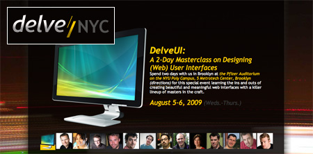 Delve/NYC homepage screenshot