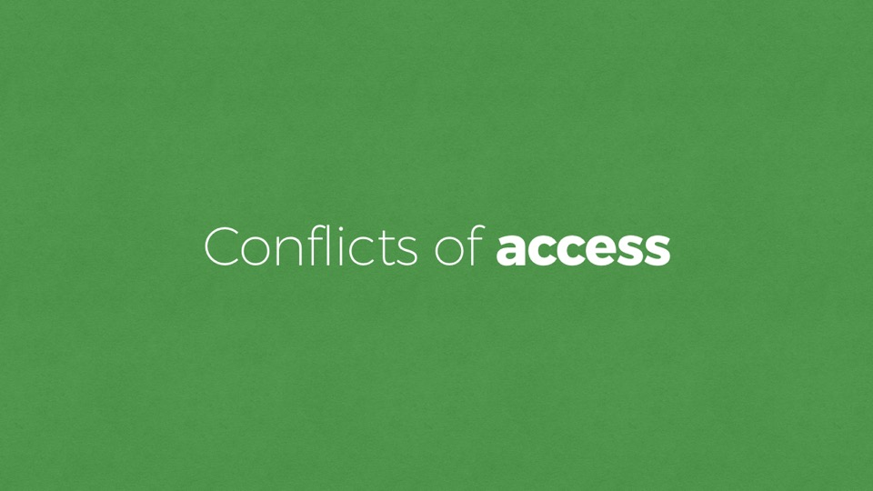 Conflicts of Access