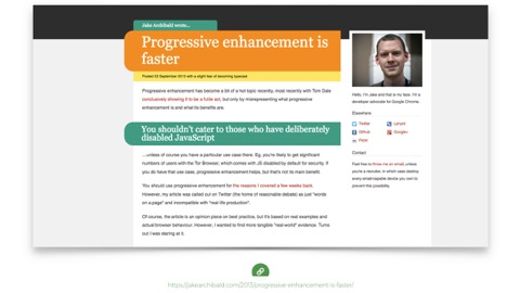 Progressive Enhancement is Faster