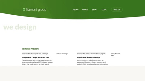 Screenshot of FilamentGroup.com