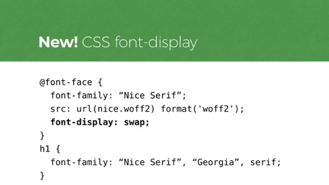 code example for font-display: swap