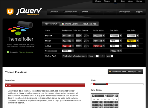 ThemeRoller User Interface